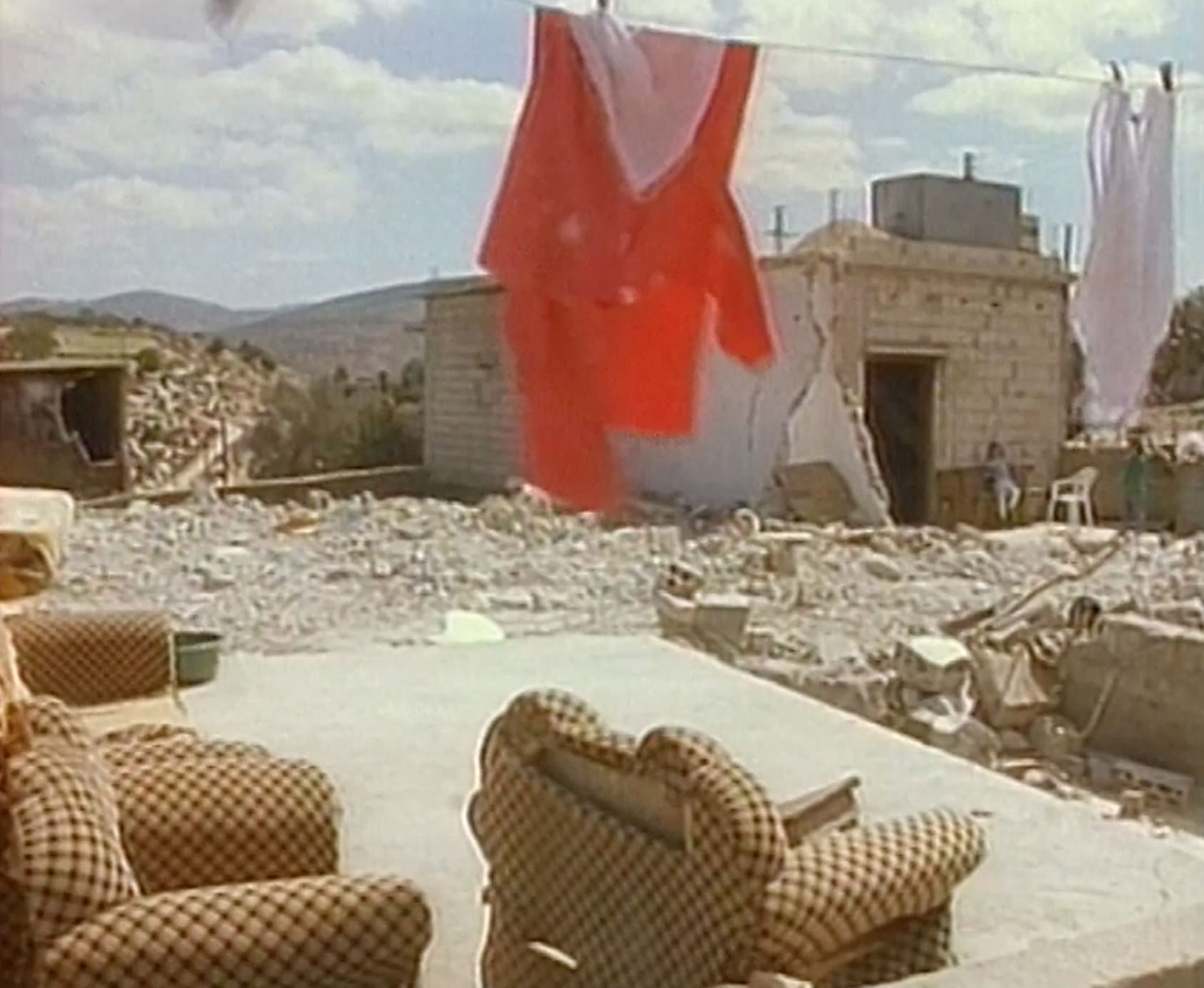 Scene of a Hezbollah village in South Lebanon after the war in 1993