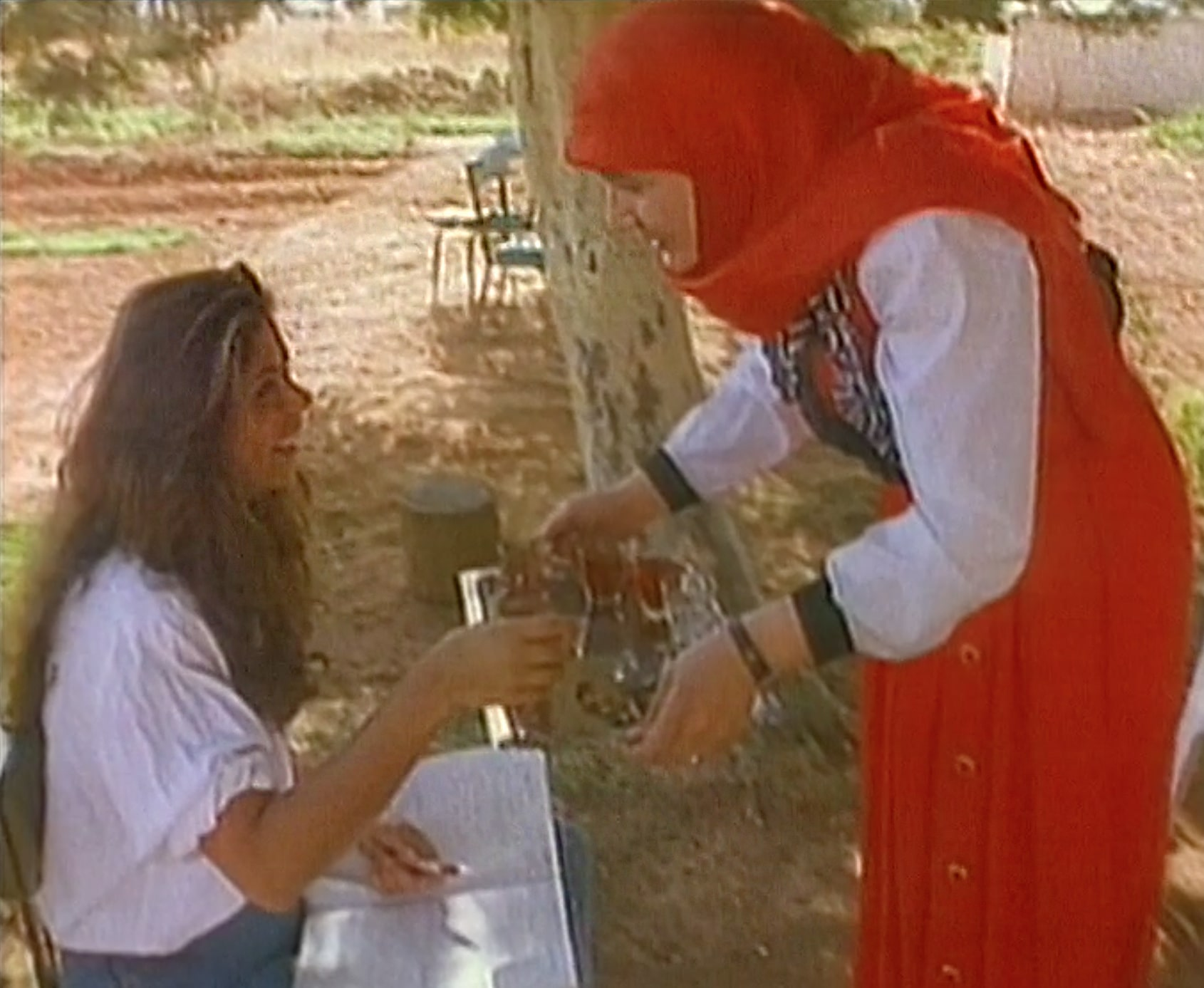 Tea with Shiite family in the Bekaa Valley 1993